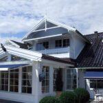 Fasade kassettmarkise - Fasadeprodukter AS - på hus