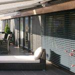 Utvendige persienner - 50 mm - på terrassen