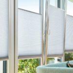 Duettegardiner til vindu i hvit farge - Fasadeprodukter