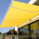 Elegant Terrassemarkise - Fasadeprodukter AS - med lyslist