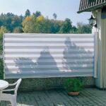 Levegg-screen med striper - perfekt på terrasse - Fasadeprodukter