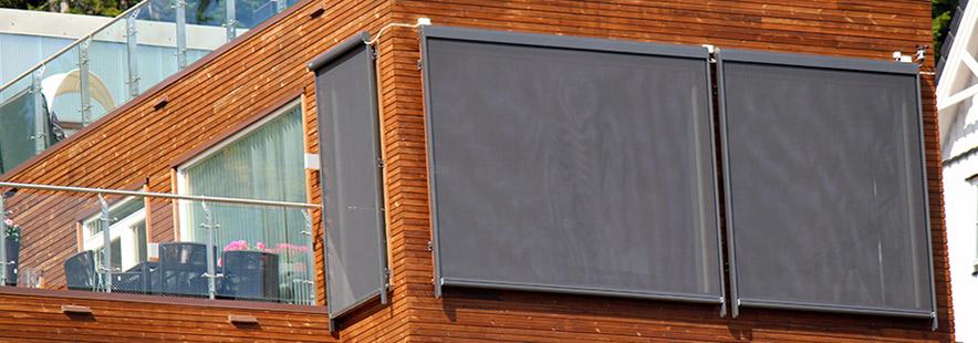 Zip-screen - solskjerming fra Fasadeprodukter AS