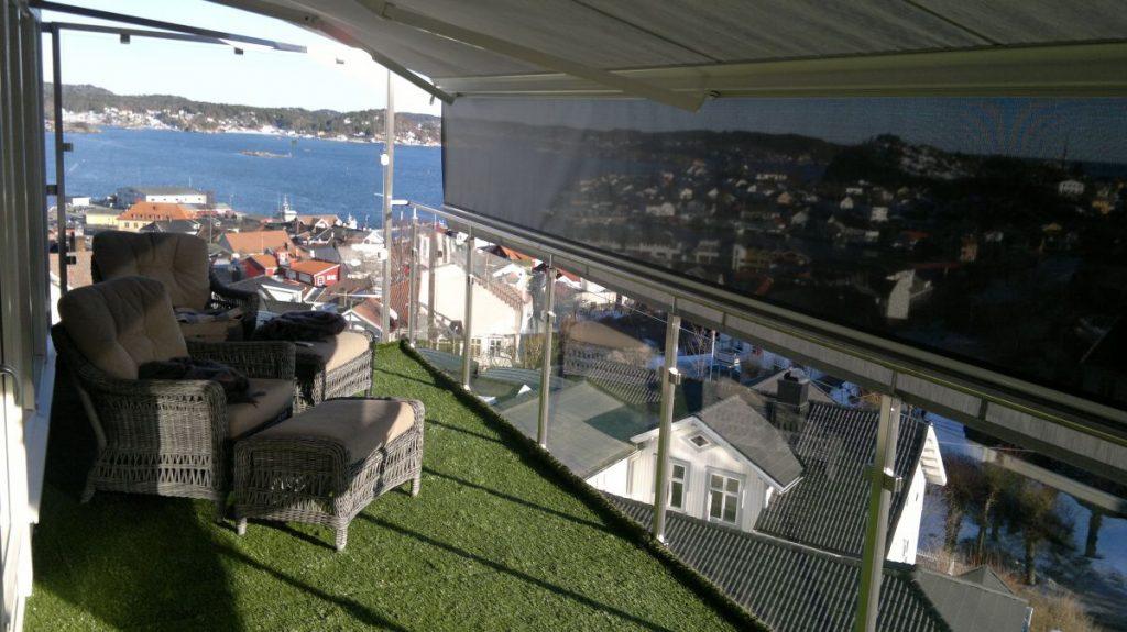 Fasade elegant terrassemarkise - Fasadeprodukter AS