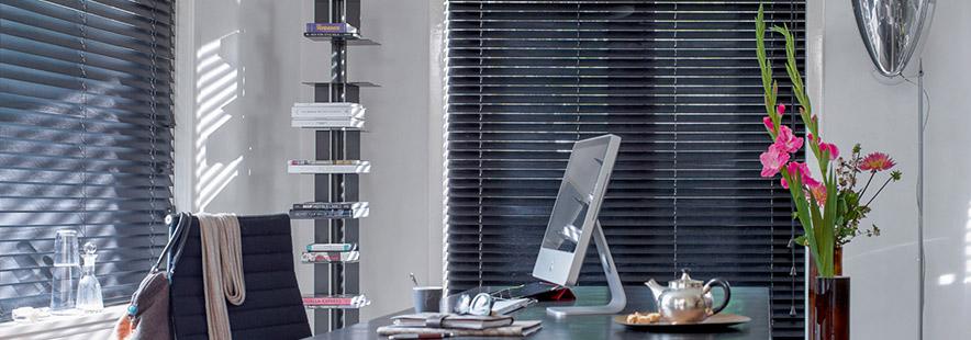 Persienner i aluminium på kontoret