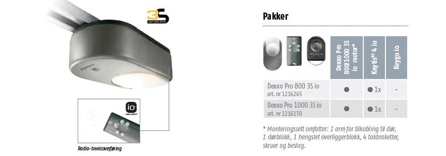 Dexxo Pro - Motorisert Garasjeport fra Fasadeprodukter AS - banner