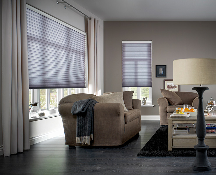 Duette-gardiner til stue - Fasadeprodukter AS