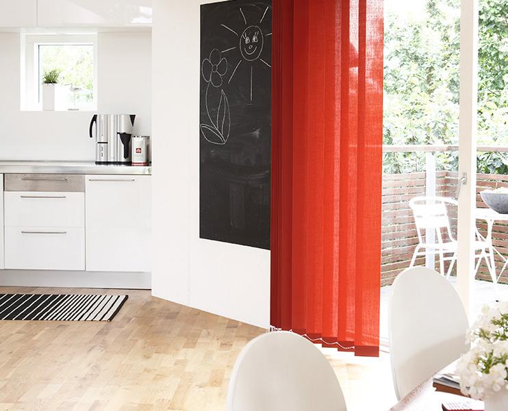 Lameller til stue i spreke farger - Fasadeprodukter AS