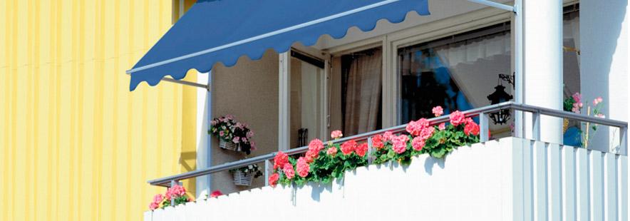 Balkongmarkise - terrassemarkise fra Fasadeprodukter AS