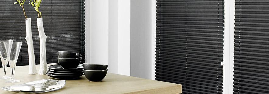 Plissegardiner - Innvendig solskjerming fra Fasadeprodukter Banner