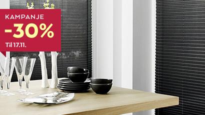 Plissegardiner fra Fasadeprodukter får du i mange ulike varianter